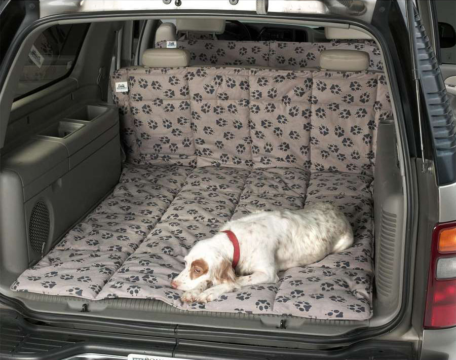 Canine Covers Cargo Bed in Paw Print