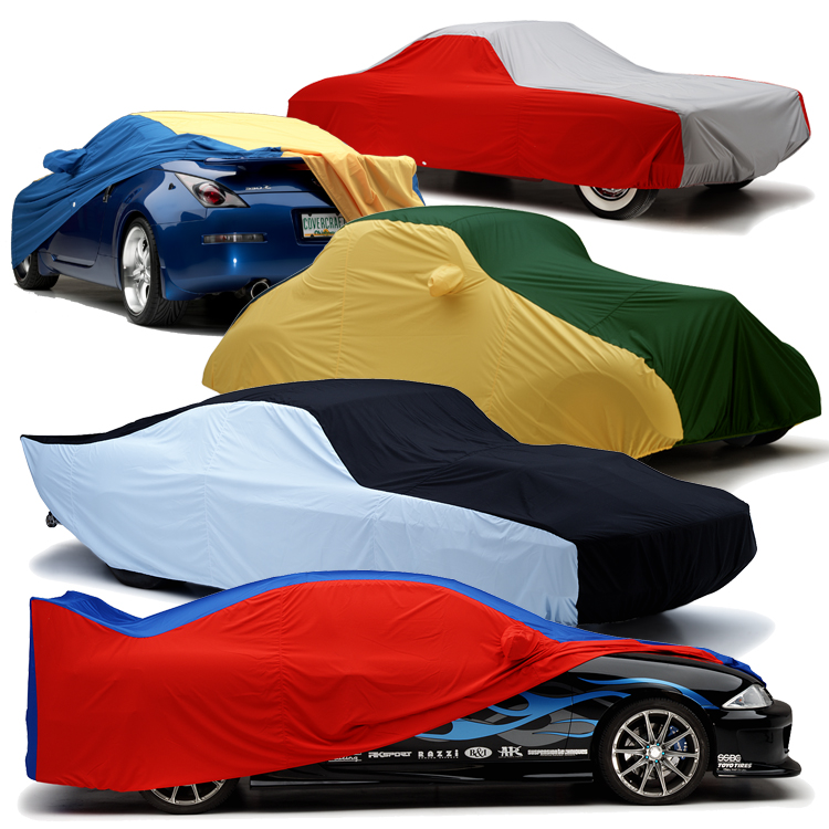 Weathershield HP Multi-Color Car Cover on Car